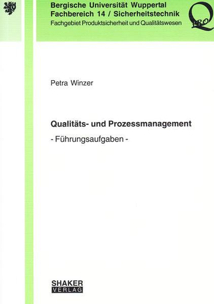 Qualitäts- und Prozessmanagement - Coverbild
