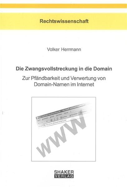 Die Zwangsvollstreckung in die Domain - Coverbild