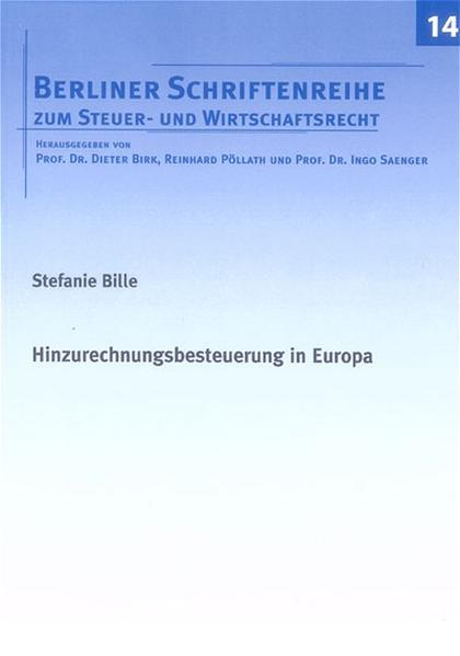 Hinzurechnungsbesteuerung in Europa - Coverbild