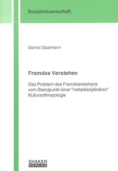 Fremdes Verstehen - Coverbild