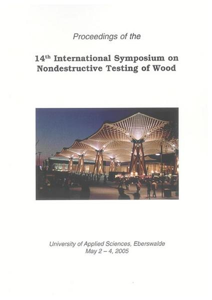 14th International Symposium on Nondestructive Testing of Wood - Coverbild