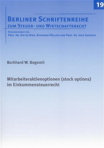 Mitarbeiteraktienoptionen (stock options) im Einkommensteuerrecht - Coverbild