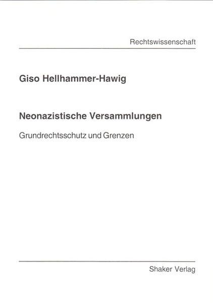 Neonazistische Versammlungen - Coverbild