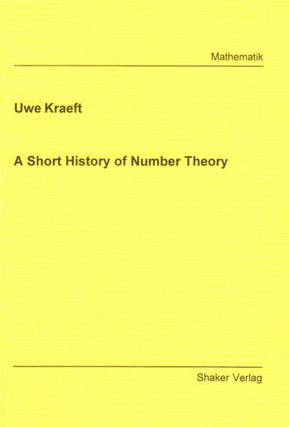 A Short History of Number Theory - Coverbild