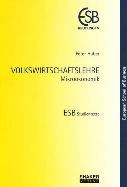 VOLKSWIRTSCHAFTSLEHRE - Coverbild