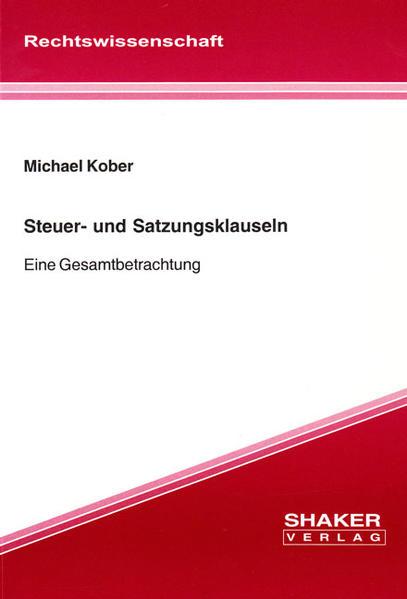 Steuer- und Satzungsklauseln - Coverbild