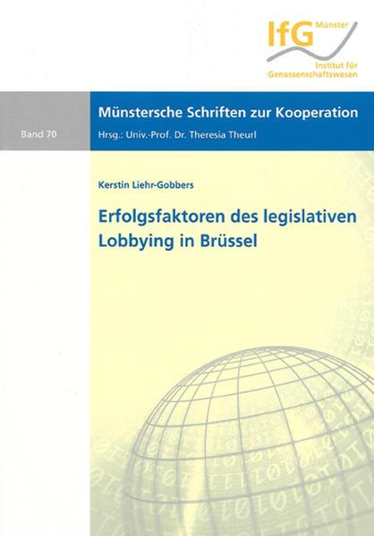 Erfolgsfaktoren des legislativen Lobbying in Brüssel - Coverbild