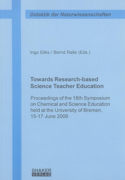 Towards Research-based Science Teacher Education - Coverbild