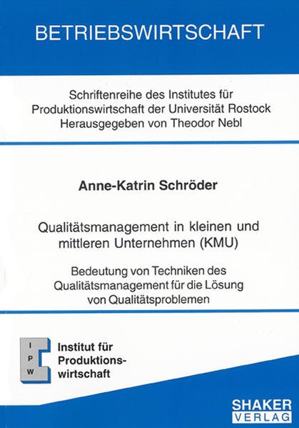 Qualitätsmanagement in kleinen und mittleren Unternehmen (KMU) - Coverbild