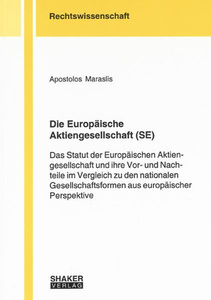 Die Europäische Aktiengesellschaft (SE) - Coverbild