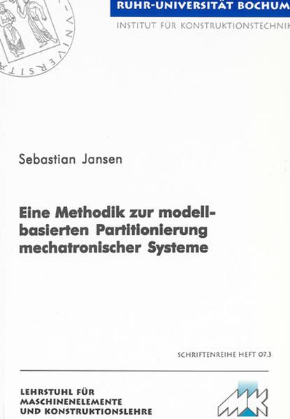 Eine Methodik zur modellbasierten Partitionierung mechatronischer Systeme - Coverbild