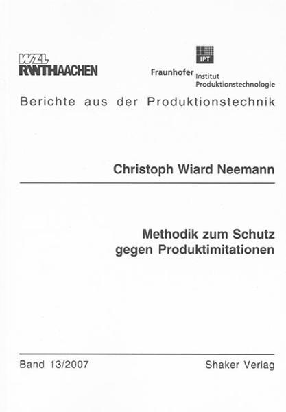 Methodik zum Schutz gegen Produktimitationen - Coverbild