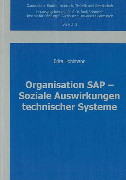 Organisation SAP – Soziale Auswirkungen technischer Systeme - Coverbild