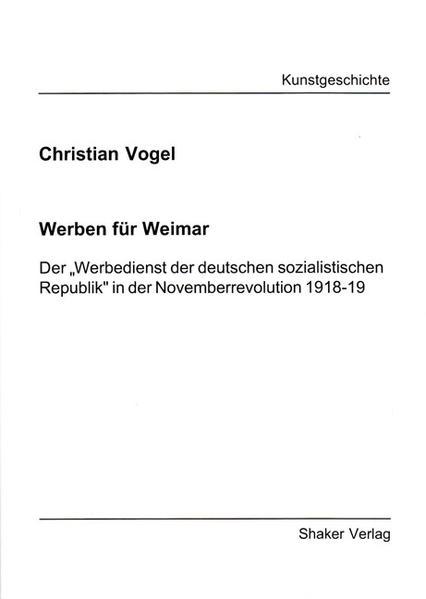 Werben für Weimar - Coverbild