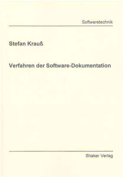 Verfahren der Software-Dokumentation - Coverbild