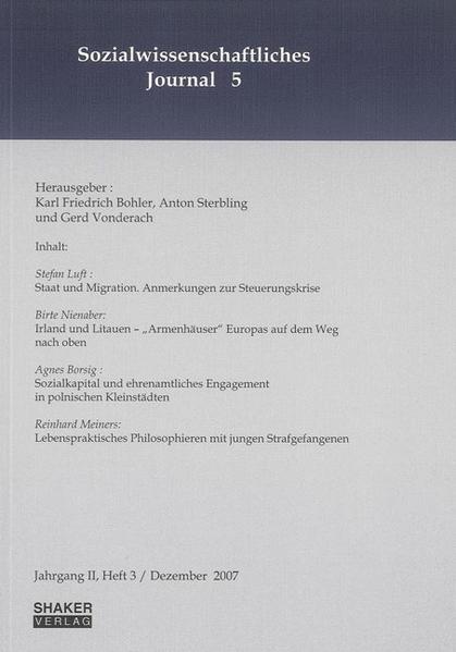 Sozialwissenschaftliches Journal / Sozialwissenschaftliches Journal Nr. 5 - Coverbild