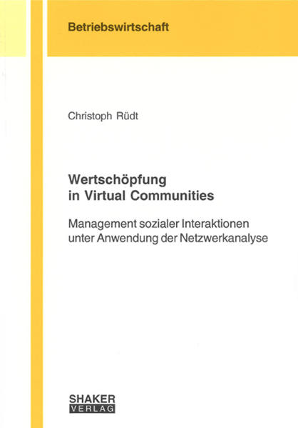 Wertschöpfung in Virtual Communities - Coverbild