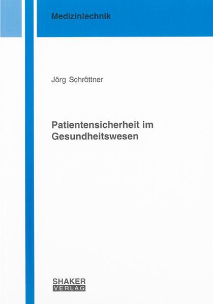 Patientensicherheit im Gesundheitswesen - Coverbild