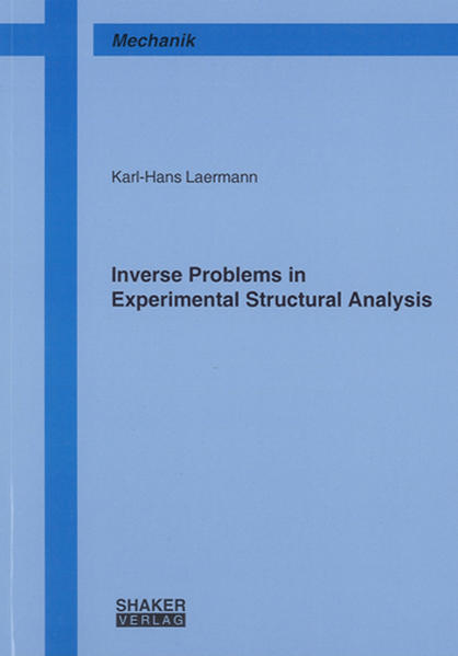Inverse Problems in Experimental Structural Analysis - Coverbild