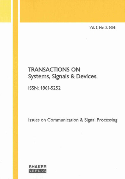 Transactions on Systems, Signals and Devices Vol. 3, No. 3 - Coverbild