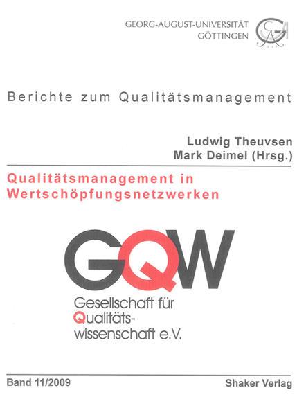 Qualitätsmanagement in Wertschöpfungsnetzwerken - Coverbild
