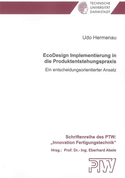 EcoDesign Implementierung in die Produktentstehungspraxis - Coverbild