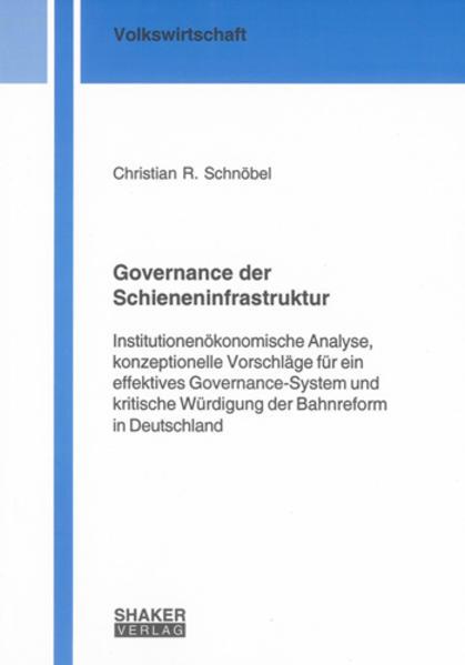 Governance der Schieneninfrastruktur - Coverbild