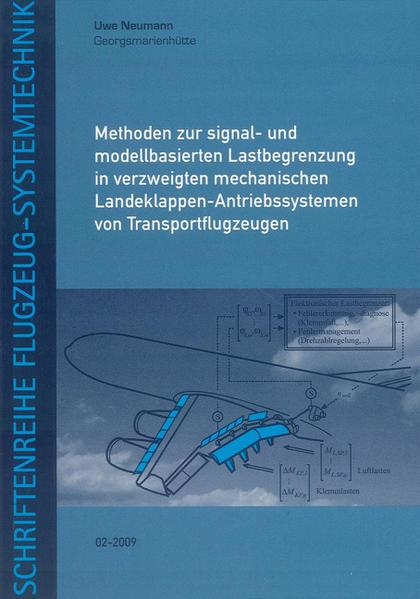 Methoden zur signal- und modellbasierten Lastbegrenzung in verzweigten mechanischen Landeklappen-Antriebssystemen von Transportflugzeugen - Coverbild
