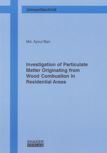 Investigation of Particulate Matter Originating from Wood Combustion in Residential Areas - Coverbild