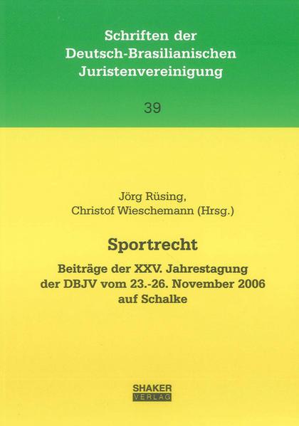 Sportrecht - Coverbild