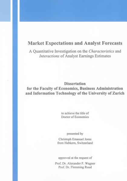 Market Expectations and Analyst Forecasts - Coverbild