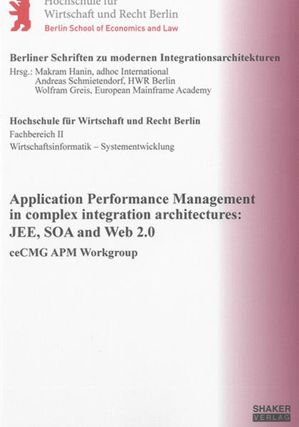 Application Performance Management in complex integration architectures: JEE, SOA and Web 2.0 - Coverbild
