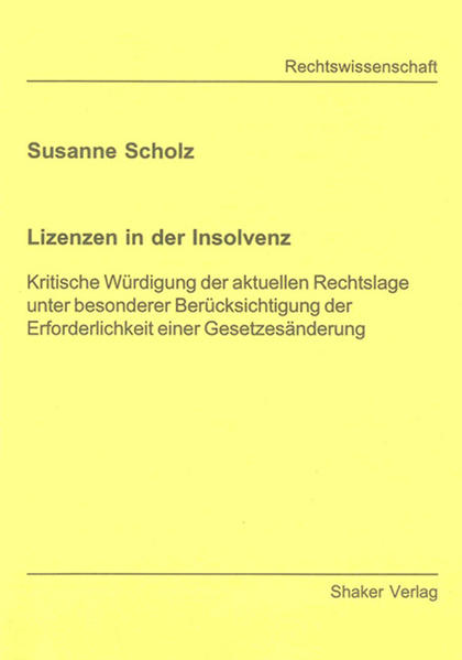 Lizenzen in der Insolvenz - Coverbild