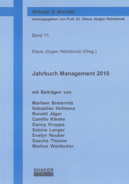 Jahrbuch Management 2010 - Coverbild