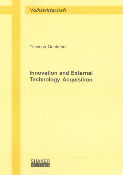 Innovation and External Technology Acquisition - Coverbild