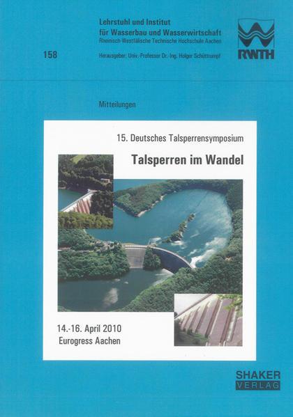 15. Deutsches Talsperrensymposium, Talsperren im Wandel - Coverbild