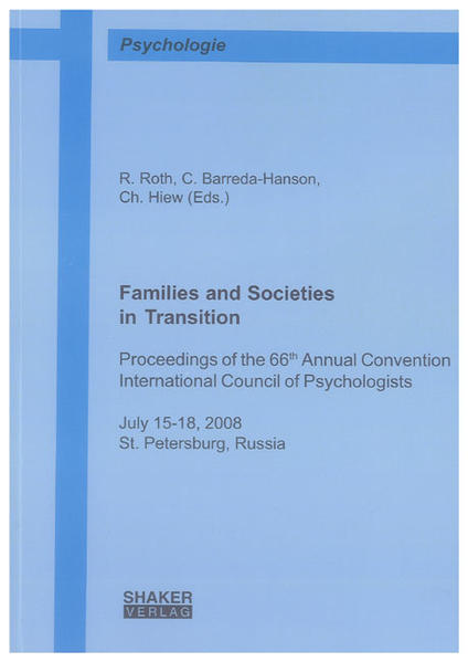 Families and Societies in Transition - Coverbild