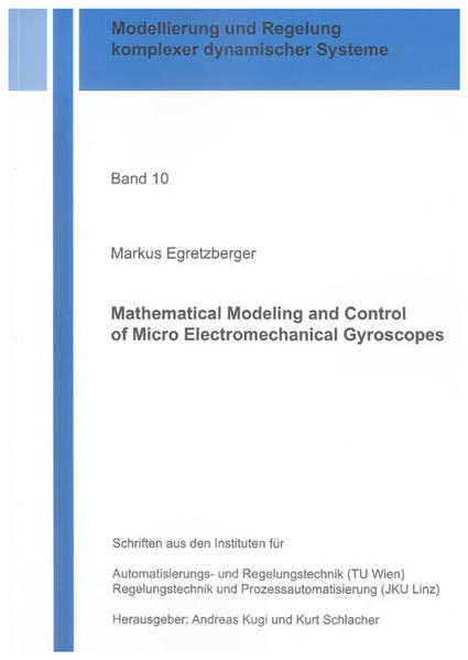 Mathematical Modeling and Control of Micro Electromechanical Gyroscopes - Coverbild