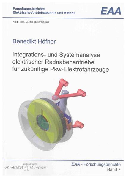 Integrations- und Systemanalyse elektrischer Radnabenantriebe für zukünftige Pkw-Elektrofahrzeuge - Coverbild