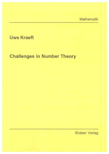 Challenges in Number Theory - Coverbild