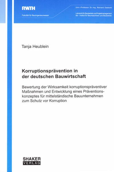 Korruptionsprävention in der deutschen Bauwirtschaft - Coverbild