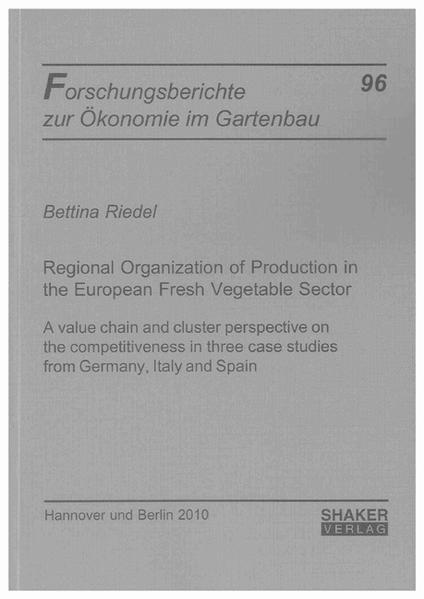 Regional Organization of Production in the European Fresh Vegetable Sector - Coverbild