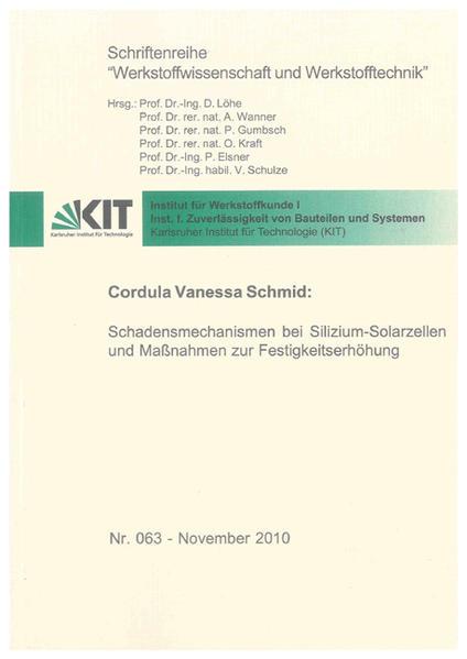 Schadensmechanismen bei Silizium-Solarzellen und Maßnahmen zur Festigkeitserhöhung - Coverbild
