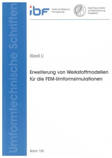 Erweiterung von Werkstoffmodellen für die FEM-Umformsimulationen - Coverbild