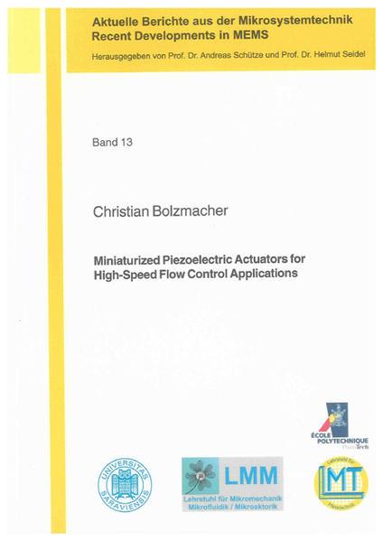 Miniaturized Piezoelectric Actuators for High-Speed Flow Control Applications - Coverbild
