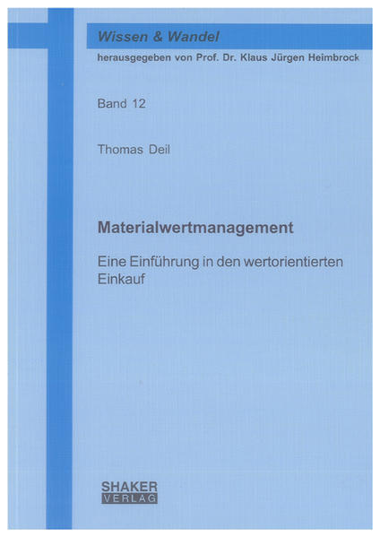 Materialwertmanagement - Coverbild
