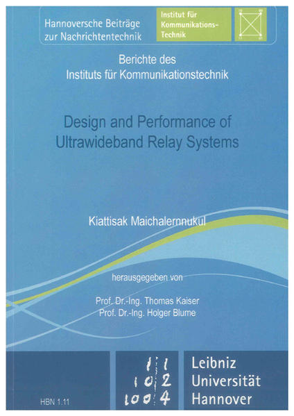 Design and Performance of Ultrawideband Relay Systems - Coverbild