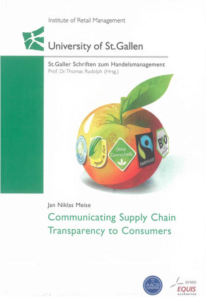 Communicating Supply Chain Transparency to Consumers - Coverbild
