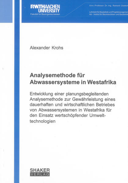Analysemethode für Abwassersysteme in Westafrika - Coverbild