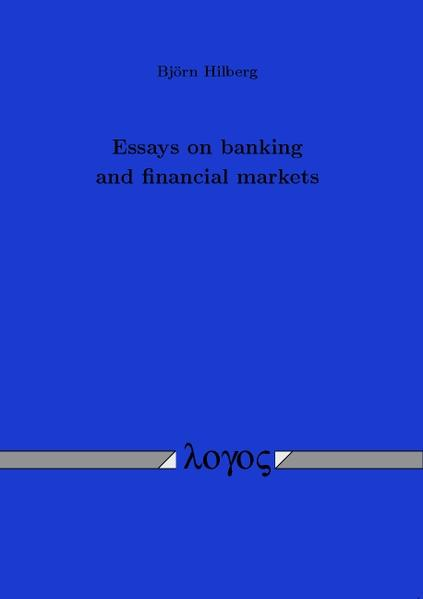 Essays on banking and financial markets - Coverbild